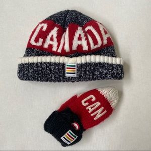 Hudson's Bay Toque and Mittens Set
